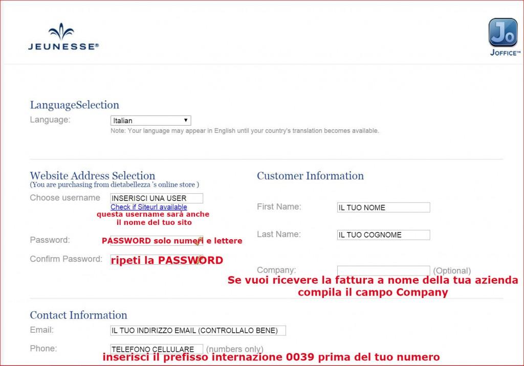 jeunesse global registrazione cliente preferenziale per risparmiare