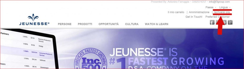 registrazione distributore jeunesse global